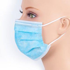 OMC Einweg Personal Non Woven Einweg-Gesichtsmaske Großhandel 3 Ebenen Einweg-Gesichtsmaske in Store 2000pcs / lot