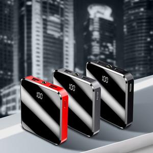 2020 new arrival quick charge, portable LED mini power bank, 10000 mah slim power banks ,Double USB