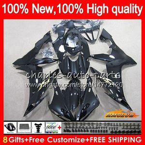 Körper für YAMAHA YZF1000 YZFR1 YZF R1 2004 2005 2006 63NO.51 glänzend schwarz YZF R 1 1000 CC 1000CC YZF1000 04-06 YZFR1 04 05 06 Verkleidungs-Kit