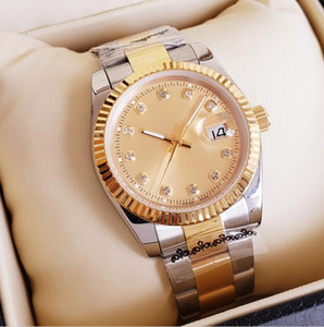 2020 Yeni Geliş 36mm 41mm Aşıklar Saatler Elmas Mens Kadınlar Altın Yüz Otomatik saatı Tasarımcı Bayanlar İzle