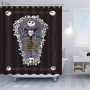 Halloween Shower Curtains The Nightmare Before Christmas Pumpkin King Horror Ghost Zombie Smiley Home Decoration Bathroom Shower Curtain