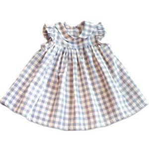 Baby Girl Dress Niños Plaid Ruffles Latticed Dresses Set Toddler Summer 2019 Ropa de moda Set First Birthday Outfit J190614