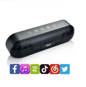 LED Flash Light BT Bluetooth Speaker 10W Stereo Subwoofers Outdoor Wireless portátil som HiFi Soundbox FM Radio TF Music Box TG148