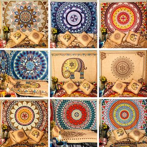 High quality decorative thick tapestry mandala pattern 9 design wall hanging color hanging cloth bedroom hanging painting free shipping