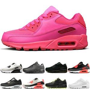Nike air max 90 op qualità Uomo Donna Scarpe da corsa infrarossi Triple Bianco Nero Neon rosso giallo Scarpe da ginnastica Moda scarpe da ginnastica sportive taglia 36-45