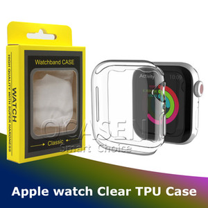 For Apple Watch 2 3 4 5 Luxury Transparent Clear Soft TPU Protective Case Cover With or Without Retail Package