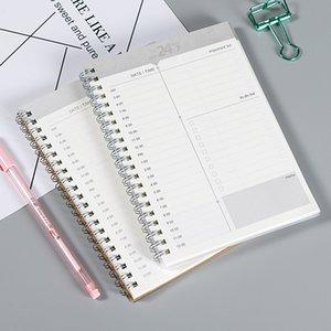 tempo manuale agenda pianificazione notebook rivista settimana quotidiana mese pianificatore 32K copertura della carta kraft efficienza del lavoro libro settimanale e mensile
