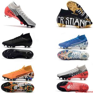 World Cup 7 Elite NJR Soccer Cleats Mercurial Superfly VI 360 Elite CR7 FG Soccer Shoes Kids Football Boots Top Quality Size 35-45