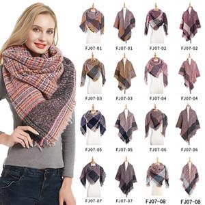 Women's Winter Triangle Scarf Printing Warm Cashmere Scarves Female Shawls Pashmina Lady Bandana Wraps Blanket Head Hijab
