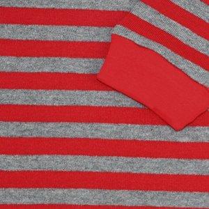 New Fashion Kids Christmas Pajamas Children Red and Gray Striped Pajamas Sets Roupas Infantis Menina Sleepwear Baby Pyjamas