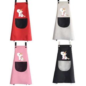 Einhorn-Schutzbleche Große Größen-Karikatur-wasserdichte Küchen-Schutzblech-Partei-Backen-kochende Schutzbleche Ärmellose Taschen-Erwachsen-Grill-Schellfisch-Schutzblech