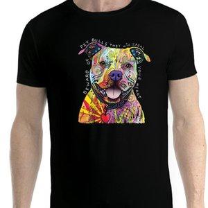 Pit Bull Love Friendly Dog Men T Shirt Xs 5xl Newstreetwear Funny Print Venta al por mayor Descuento Hip Tope Mans Camiseta Tops Camisetas