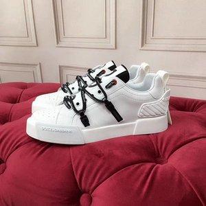 Dolce & Gabbana D&G 2020 Name High homem Qualidade calçados casuais Plano Kanye West Moda enrugadas Couro Lace-up High Top Male Arena Sapatos mnbh02