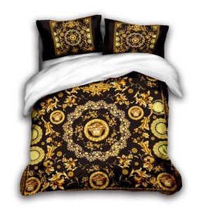 designer cama 3D define king size de luxo Quilt fronha caso queen size duvet cover designer de cama edredons conjuntos Q2