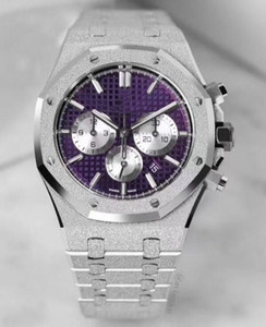 Дизайнерские часы Royal Oak Series 26331 41MM кварцевых часов обработка золота 18-K платины роскошных мужских часов