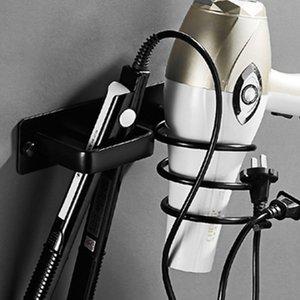 Uzay Alüminyum Duvar Saç Kurutma Tuvalet Banyo Raf Sarf Malzemesi Depolama Organizatör Saç kurutma makinesi Düzleştirici Holder Raf Monteli