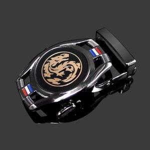 Leather Watch Head Men's automatic 3.5cm buckle watch-shaped alloy waist buckle trousers Belt Men's belt
