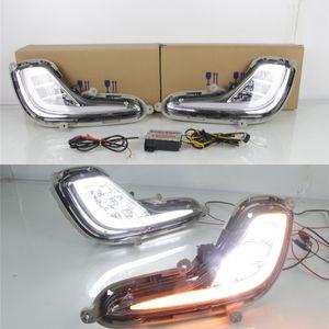 Hyundai Accent 2011-2013 LED 6000K DRL + LED Sis Lambası + Sarı açın Sinyalleri için Işıklar Davasını Koşu Temmuz Kral LED Gündüz
