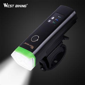 WEST BIKING Bike Front Light Induction Bicycle Bright Light USB Charging Flashlight Cycling Waterproof Torch Bike Headlight T190926