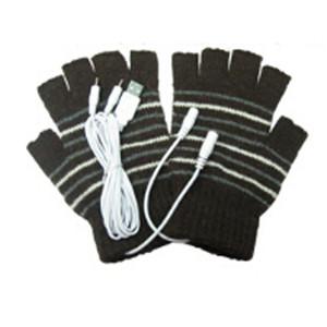 Unisex Winter Elektrische USB Heizung Farbe Hand Erwärmung Fingerlose Handschuhe + USB Kabel 0075 Für Männer Frauen Schwarz Kaffee Farben