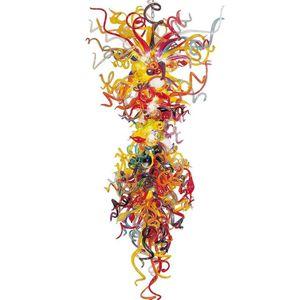 Multi-color grande lustre Luz de vidro de material pendente Lâmpadas Itália Estilo baratos candeeiros de tecto para New House Decoration
