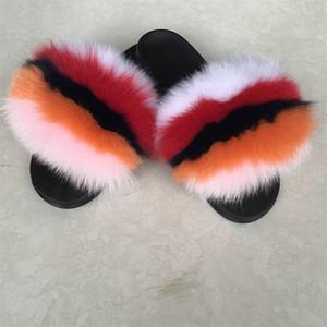 real fur slides black and white fur slides black fur slides