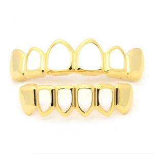 Новое прибытие металла Зубы Grillz выдалбливают Европы и Америки Стиль Золотой Зуб рукава многоцветный корзины 9 9jaH1