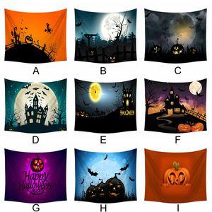Décorations de bricolage Accueil mural 60 x 80 pouces Tapestry Halloween citrouille fantôme Peculiar Cadeaux Décorations pour Party # 0907