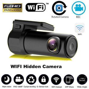 Full HD 1080P WiFi Carro DVR Veículo Câmera Câmera Cam Noite Vision Grande Angular Vídeo Gravador G-Sensor para iOS Android Smartphones