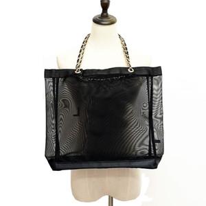Designer-Mesh borse da spiaggia bellezza borsa vip regalo Tote con spessore V2018W32 catena