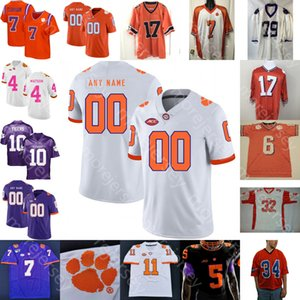 Personalizzato Clemson Football Jersey NCAA College Trevor Lawrence Chase Brice Etienne Jr. Higgins Ross Rodgers Simmons Davis Foster Dixon Mellusi