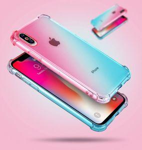 20шт подушка градиента цвета силиконовый чехол для iphone 6 с 7 8 плюс х х с х р хс макс фундамент каркаса коке hoesje тпу крышка крит ток этуй кастоди
