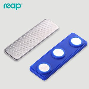 50pcs lot Reap 7621 magnetic name tag badge for ID attachment holder 3 magnets badge holder name badge magnetic