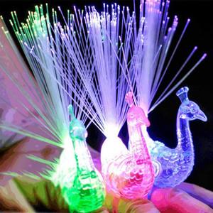 LED 빛 공작 손가락 빛 레이저 빔 링 섬유 장난감 플래시 파티 장식 레드 그린 블루 믹스