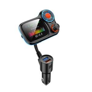 Heißer Verkauf 1,8 Zoll Farbbildschirm Bluetooth FM Sender Auto Radio Bluetooth Adapter Freisprecheinrichtung Telefon LED-Licht