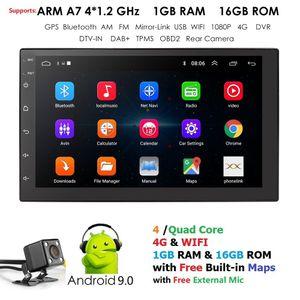 Android9.0 universale 2DIN autoradio Android di GPS Bluetooth Autoradio Stereo MirrorLink Multimedia Lettore MP3 macchina fotografica di retrovisione Mappa dvd
