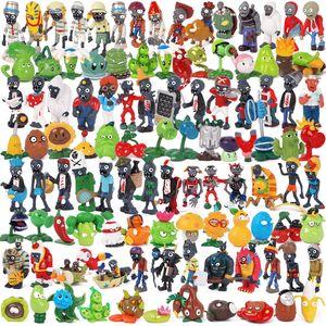 Версия 1-4 Растения VS Zombies ФИГУРКИ игрушки куклы 3-8cm ПВХ Мультфильм Аниме Кукла Детские игрушки Рождественский подарок Праздничный дисплей