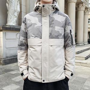 BROWON hiver Veste Zipper hommes camouflage Pardessus Keep Warm épais Vestes homme Manteaux 2020 Veste d'hiver pour