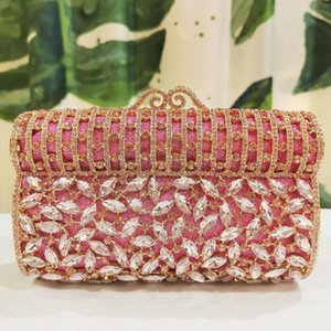 Crystal Evening Bag Multicolor Diamante Clutches Bag Wedding Bridesmaid Handbag Handcraft Studded Clutch shoulder bags lady