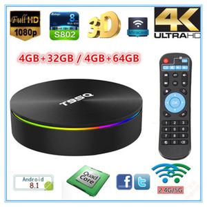 T95Q Network TV Box Amlogic S905X2 Quad core 4K Smart Android 8.1 TV Stream Box 4GB DDR 32GB 64GB ROM