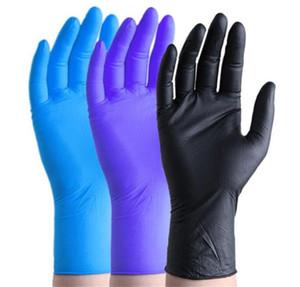DHL Корабль одноразовые защитные нитриловые перчатки Пищевые перчатки Универсальный бытовой сад Уборка сада 100 шт. Перчатки