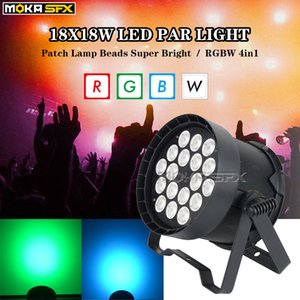 LED Par Light RGBW 18 * 18W RGBW 4in1 Super Bright DJ Light Stage Lighting for DJ Nighly Party Decoration
