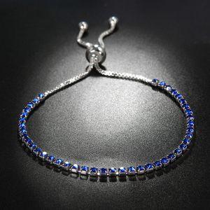 Crystal Clear Rhinestone браслет цепь для женщин Элегантного серебрения Кубических циркона ювелирных изделий браслета Fit партия Wedding Рождественского подарка