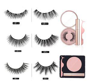 5 Magnetic Eyelashes natural False Eyelashes Magnet Lashes Magnetic Liquid Eyeliner & Magnetic False Eyelashes & Tweezer Set