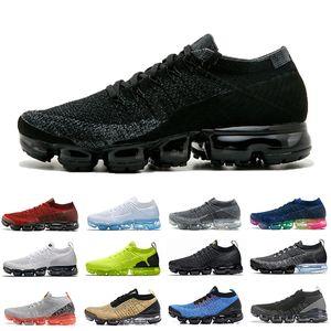 nike air vapormax flyknit 2 36-45 Hava Vampor max 2.0 Yastık Koşu Atletik Ayakkabı Kadın Erkek Zebra Yelken Mango Oreo Kaplan Leopar Krom Nötr Zeytin Spor Sneakers