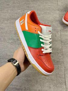 2020 Limited 7-Eleven x SB Dunk Low Naranja Rojo Verde hombres de las mujeres del monopatín calzado deportivo zapatillas de deporte diseñan los zapatos con la caja original