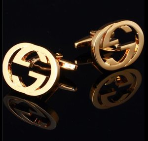 16 di modo di stile dei gemelli degli uomini di lusso camicia gemelli francesi di alta qualità da sposa Gemelli regalo con la scatola