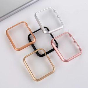 Cubierta de parachoques de aluminio del capítulo del metal para Apple iWatch reloj 1 2 3 4 5 Serie 44 mm 38 mm 40 mm 42 mm