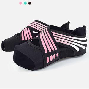 Women's indoor Yoga socks Pilates gymnastics socks antiskid fitness dance five toed Ballerina without back