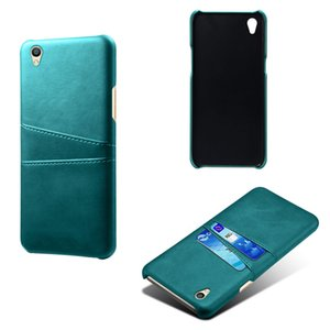 10pcs lot Retro Card Slots Back Leather Case Cover For OPPO R11S R11S Plus R9S R9S Plus R9 R9 Plus RX17 Neo R7 R17 Pro R17 R11